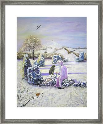 Mother Of Air Goddess Danu - Winter Solstice Framed Print