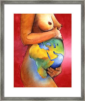Mother Of All Colors Framed Print