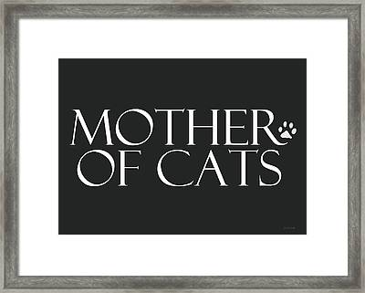 Mother Of Cats- By Linda Woods Framed Print