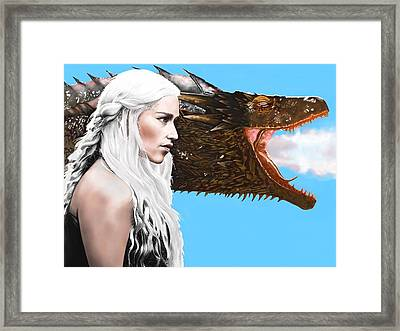 Mother Of Dragons Framed Print by Andrew Harrison
