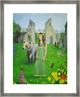 Mother Of Fire Goddess Artha - Spring Equinox Framed Print