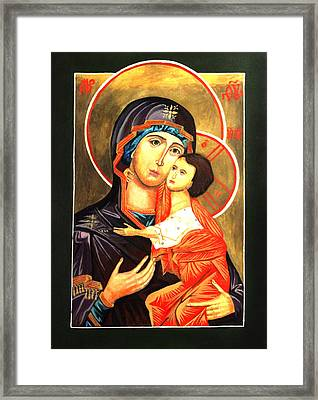Mother Of God Antiochian Orthodox Icon Framed Print