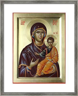 Mother Of God Hodighitria Framed Print by Daniel Neculae