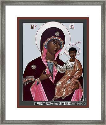Mother Of God - Protectress Of The Oppressed - Rlpoo Framed Print