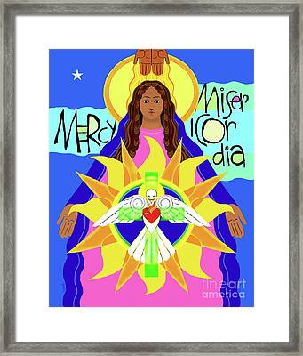 Mother Of Mercy - Mmmcy Framed Print by Br Mickey McGrath OSFS