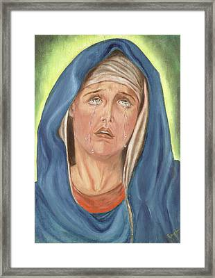 Mother Of Sorrow - Mater Dolorosa Framed Print by Remy Francis