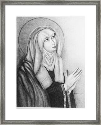 Mother Of Sorrows Version1 Framed Print