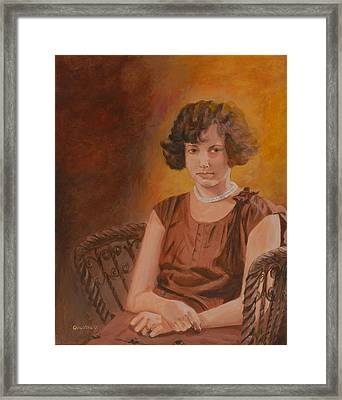 Framed Print featuring the painting Mother by Quwatha Valentine