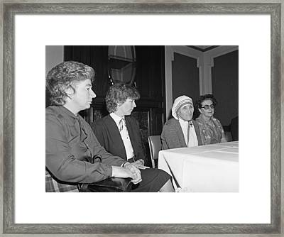 Mother Teresa At Spuc  Framed Print by Irishphotoarchive