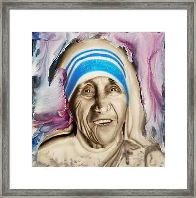 Mother Teresa  Framed Print by Daniel Gutierrez