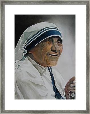 Mother Teresa Framed Print by Dwight Williams