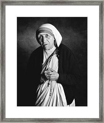 Mother Teresa Framed Print by Hans Wolfgang Muller Leg