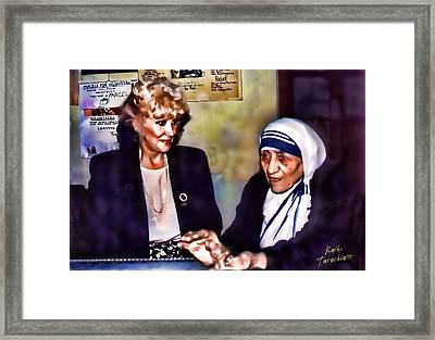 Mother Teresa In Calcutta Framed Print by Kathy Tarochione