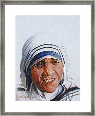 Mother Teresa Framed Print by John Lautermilch