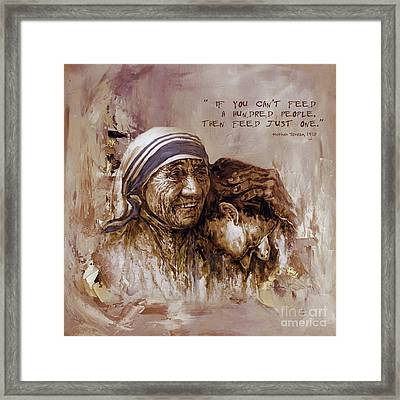 Framed Print featuring the painting Mother Teresa Of Calcutta  by Gull G
