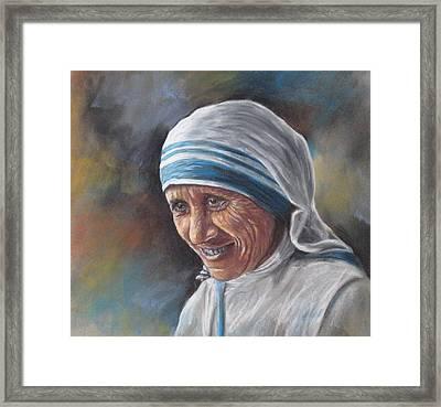 Mother Teresa Framed Print by Sam Pearson