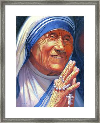 Mother Teresa Framed Print by Steve Simon