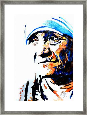 Mother Teresa Framed Print by Steven Ponsford