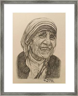 Mother Theresa Kindness Framed Print by Kent Chua