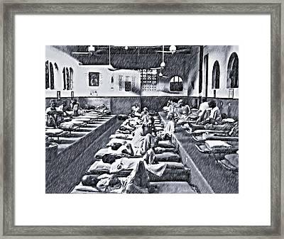 Mother Theresa's Sketch Version Framed Print by Steve Harrington