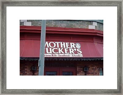 Mother Tuckers Framed Print