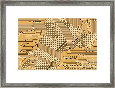 Motherboard - Printed Circuit Framed Print