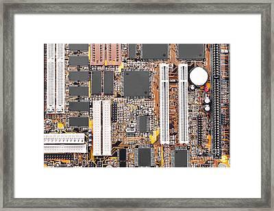 Motherboard Framed Print by Cristian M Vela