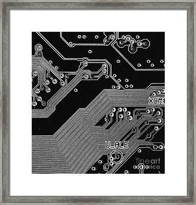 Motherboard Schematics Framed Print by Yali Shi