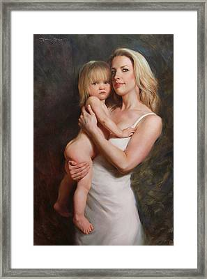 Motherhood Framed Print by Anna Rose Bain