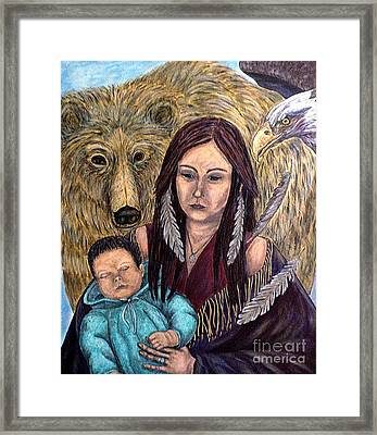 Motherhood-guardian Spirits Framed Print