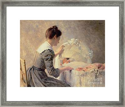 Motherhood Framed Print by Louis Emile Adan
