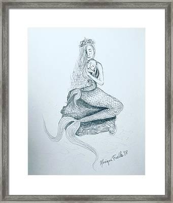 Motherhood Mermaid Framed Print