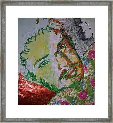 Framed Print featuring the painting Mothering Max by Tilly Strauss