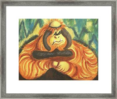 Motherly Concern Framed Print by Suzanne  Marie Leclair
