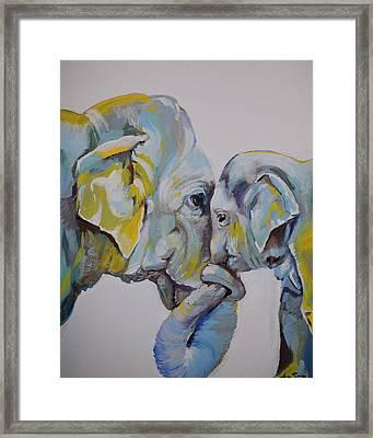 Motherly Elephant  Framed Print
