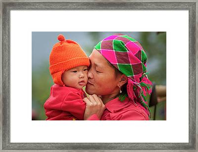 Motherly Love, Sa Pa, 2014 Framed Print by Hitendra SINKAR