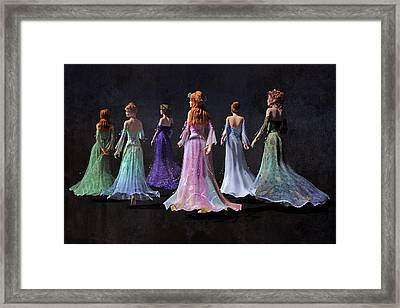 Mothers And Daughters Framed Print by Betsy Knapp