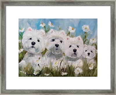 Mother's And Daughters Framed Print