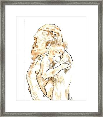 Mothers Arms Framed Print by Warren Thompson