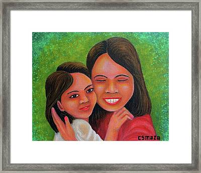Mother's Comfort Framed Print by Cyril Maza