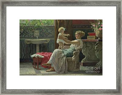 Mother's Darling  Framed Print by Zocchi Guglielmo