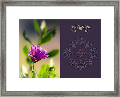 Mother's Day Flower Framed Print