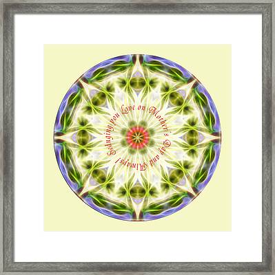 Mother's Day Mandala 1 Framed Print