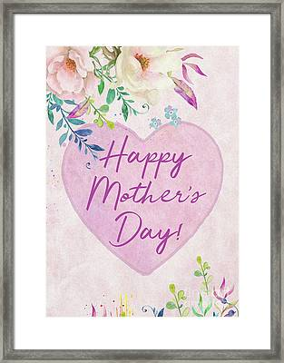 Mother's Day Wishes Framed Print