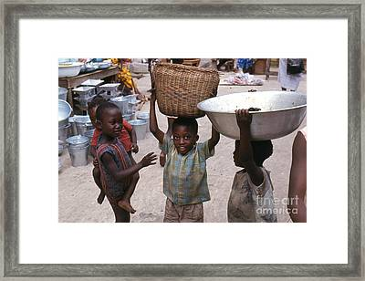 Mother's Little Helpers Framed Print