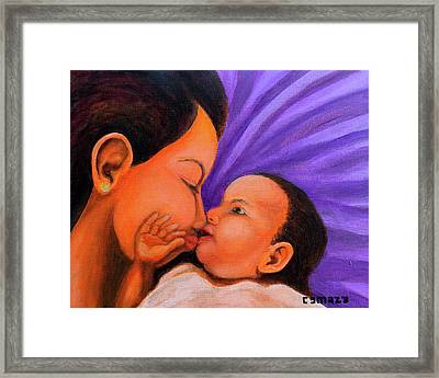 Mother's Love Framed Print by Cyril Maza
