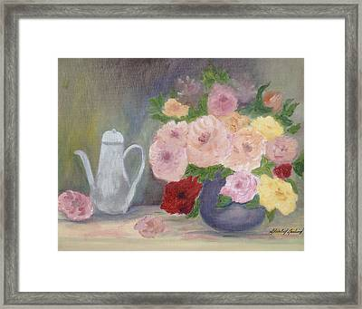 Mother's Roses Framed Print by Shirley Lawing