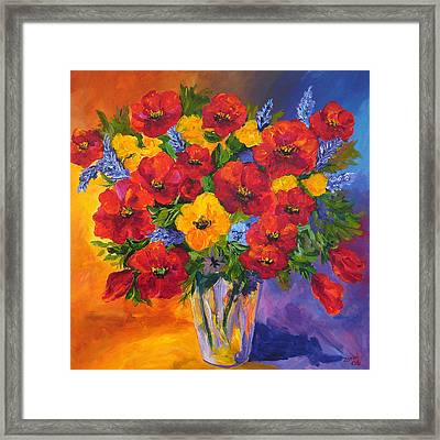 Mothers Spring Flowers Framed Print