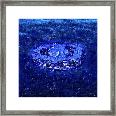Mothership Blue Framed Print by Raphael Terra