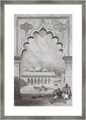 Moti Musjid Or Pearl Mosque Framed Print by David Roberts